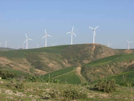 Turbine Sky Landscape Free Photo