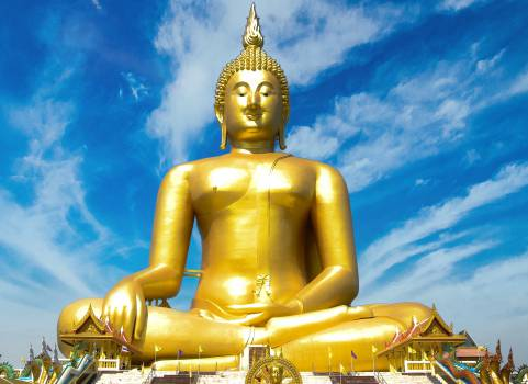 Prayer Buddhist Gold #15837