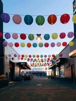 Balloon Lights Crowd Free Photo
