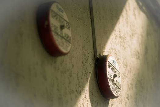Push button Fire alarm Old Free Photo