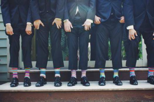 suits shoes funky socks  #16583