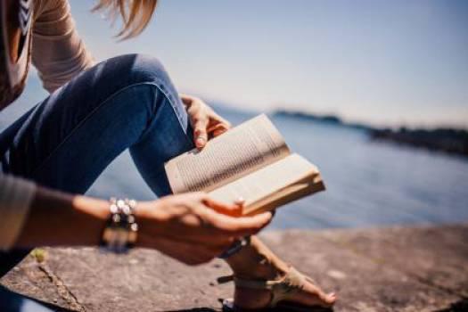reading book girl  #16589