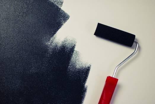 painting paint roller black  #16644