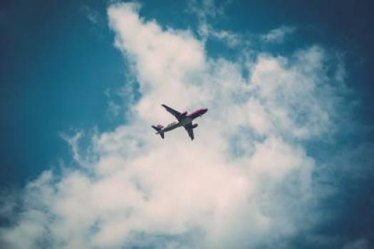 airplane blue sky  #16704