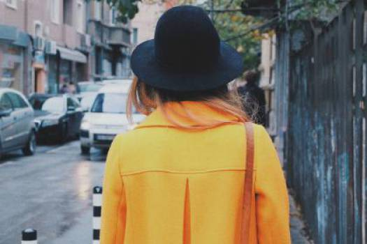 yellow coat hat  #16716