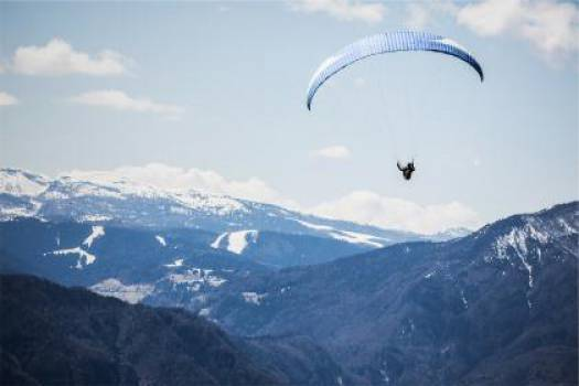 landscape mountains paragliding  #16731