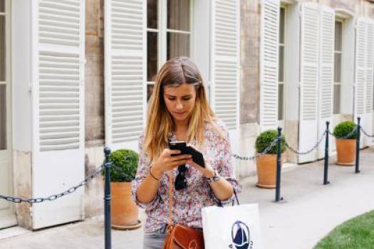 girl texting smartphone  #16741