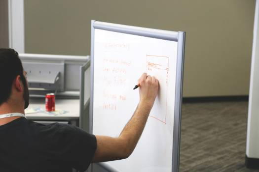 whiteboard planning marker  Free Photo