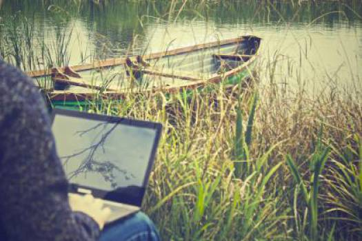 working outdoors laptop  #16861