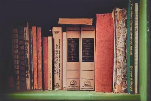 books encyclopedia shelf  #16926