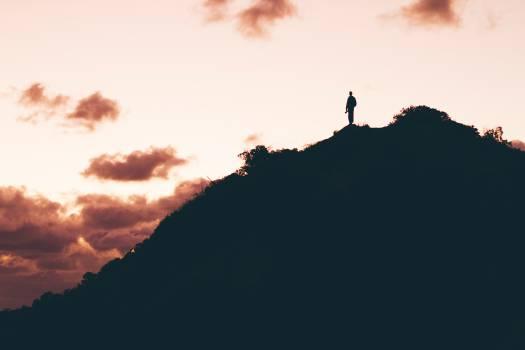 mountain silhouette guy  #16936