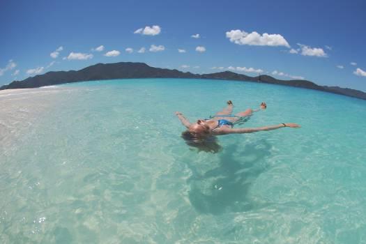 woman swimming bikini  #16942