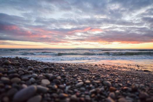 beach sunset sky  Free Photo