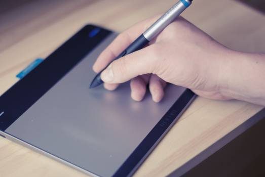 pen tablet technology  Free Photo
