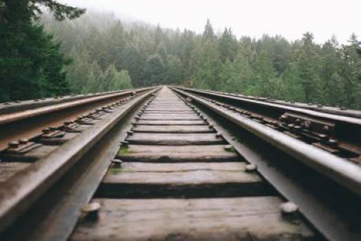train tracks railroad railway  #16968