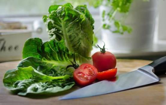 salad lettuce tomatoes  #16972