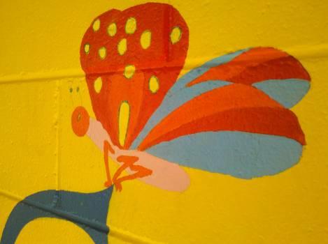 Orange Pinwheel Wheel Free Photo
