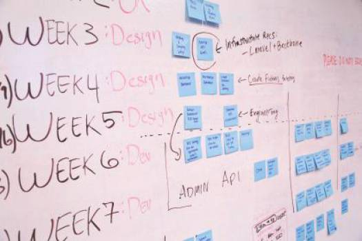 whiteboard post-it notes planning  Free Photo