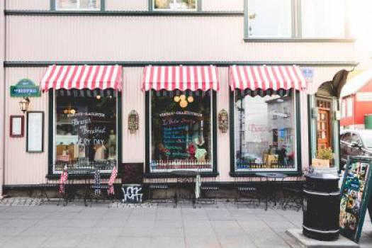 bistro restaurant sidewalk  #17004