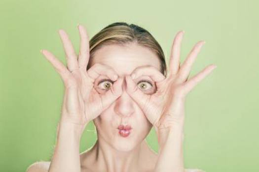 eyes face hands  Free Photo