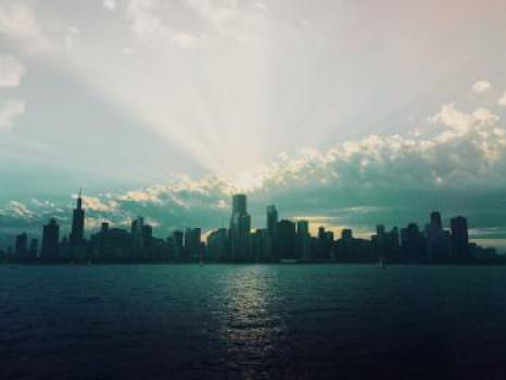 Chicago cityskape skyline  Free Photo