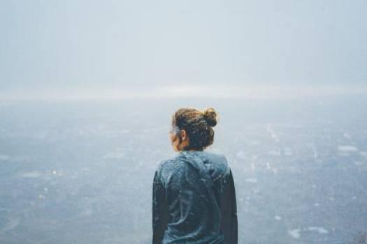 girl looking hoodie  Free Photo
