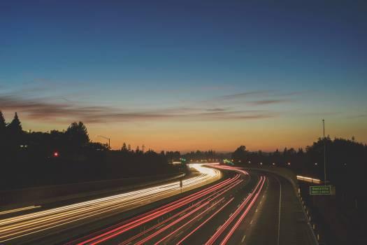 road highway night  #17071