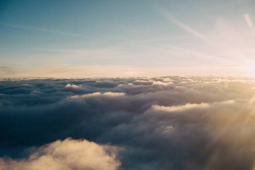 above the clouds sky sunshine  Free Photo