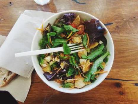 salad lettuce vegetables  Free Photo