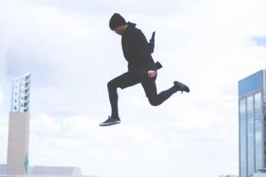 guy jumping air  #17263