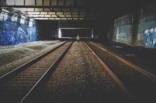 train tracks railroad railway  #17280
