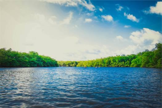 lake water sunshine  Free Photo