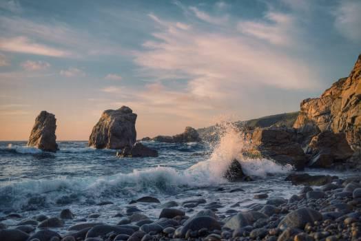 ocean sea waves  Free Photo