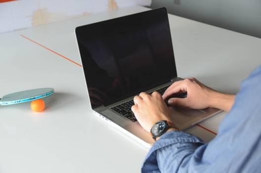 typing working laptop  #17335