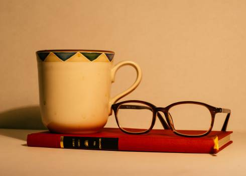 book eyeglasses mug  #17350