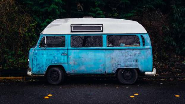 blue hippy van automotive  #17355