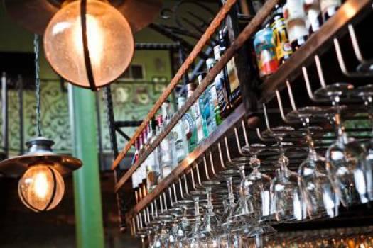 bar alcohol glasses  Free Photo