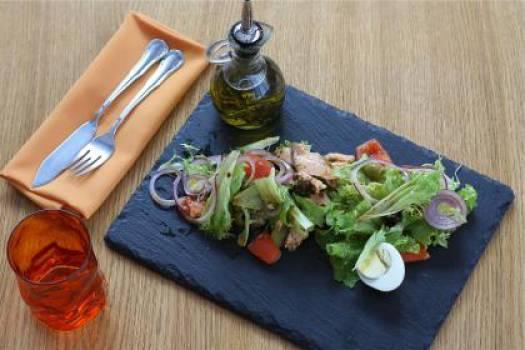 salad lettuce chicken  Free Photo
