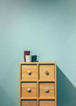 minimal furniture drawers  Free Photo