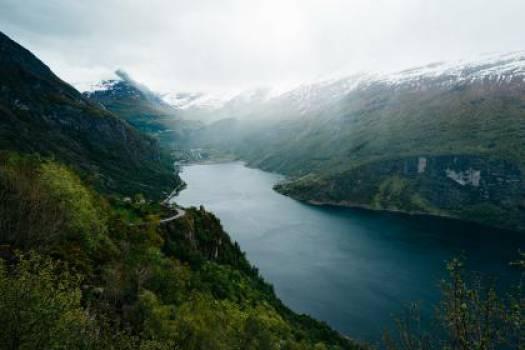 landscape mountains river  #17511