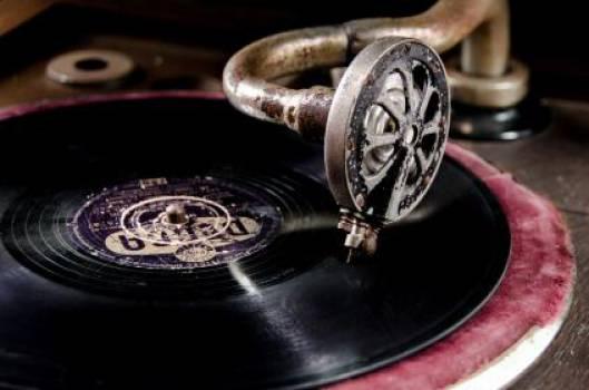 vinyl record turntable  Free Photo