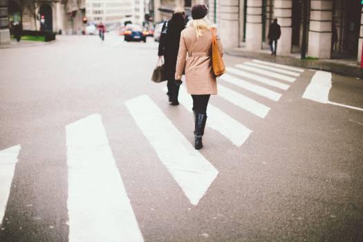 crosswalk intersection pedestrians  #17579
