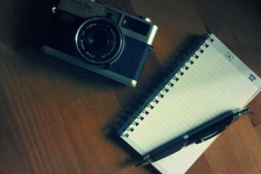 camera notepad pen  #17619