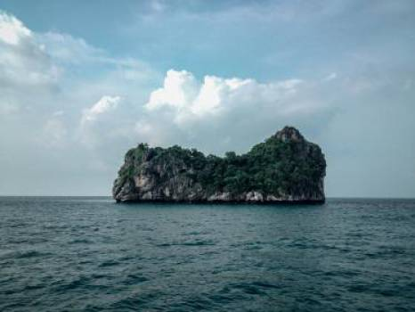 island cliffs rocks  #17679