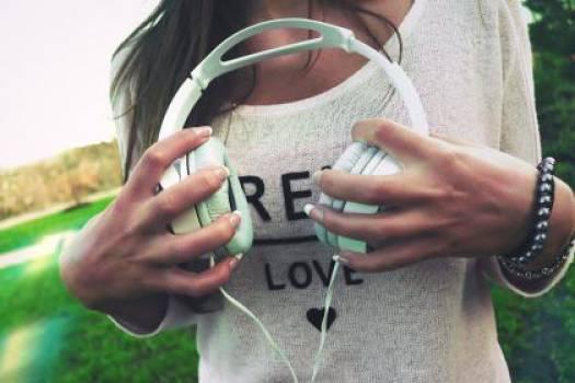 headphones music hands  #17682