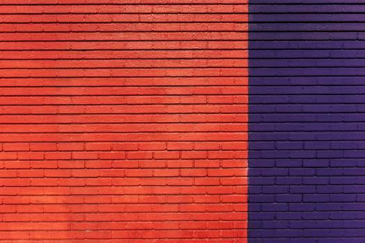 bricks wall orange  #17722