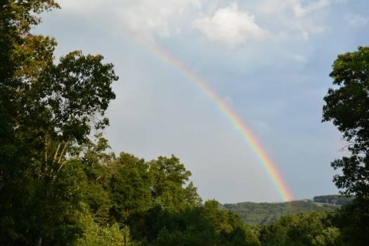 Rainbow Bow Sky Free Photo