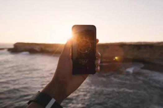 iphone compass navigation  Free Photo