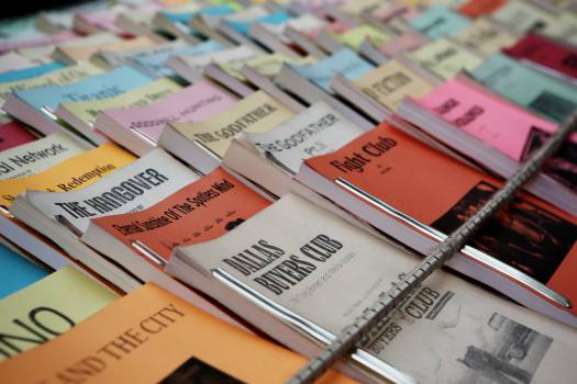 books movie titles scripts  Free Photo