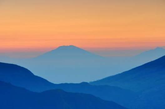landscape mountains valleys  Free Photo